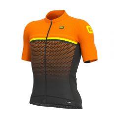 Ale BRIDGE moška kolesarska majica oranžna
