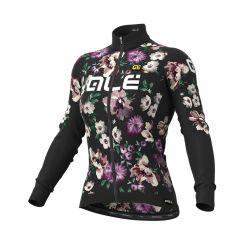 Ale FIORI Winter ženska kolesarska termo majica črna
