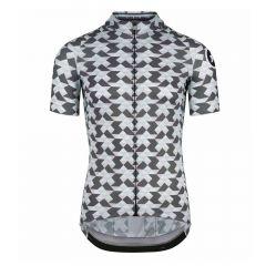 Assos DIAMOND CRAZY SS iceGrey moška kolesarska majica siva