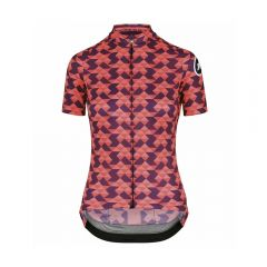 Assos DIAMOND CRAZY solitaireRed ženska kolesarska majica