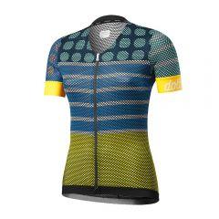 Dotout DOTS ženska kolesarska majica turkizna
