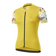 Dotout LIVE ženska kolesarska majica rumena