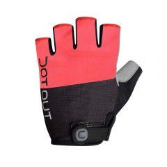 Dotout PIN kratke kolesarske rokavice rdeče