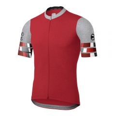 Dotout SQUARE moška kolesarska majica rdeča
