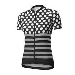 Dotout UP ženska kolesarska majica črna/bela