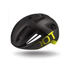 Dotout Coupe kolesarska čelada črna/neonsko rumena