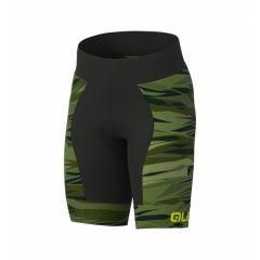 ALE ROCK otroške kolesarske kratke hlače brez naramnic zelene