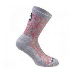 Dotout DOTTY zimske kolesarske nogavice sive/rdeče