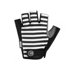 Dotout STRIPE ženske kratke kolesarske rokavice črne/bele